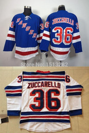 Free Shipping #36 Mats Zuccarello Stitched Jersey Men's New York Rangers Hockey Jerseys Team Color Home Authentic Jerseys