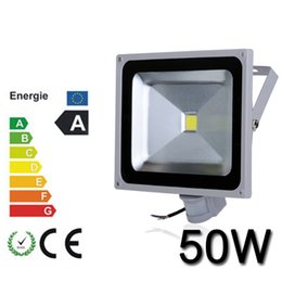 China led lighting IP65 50W led floodlight PIR ,100% Full watt
