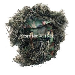 Wholesale Sniper tactical camouflage head hood for ghillie suit ghilly hunting airsoft paintball blind HA30901102