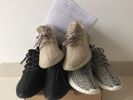 Wholesale Yeezy Boost Authentic Kanye west Fashion boots pirate black turtle dove moon rock oxford tan original with double boxes and receipt