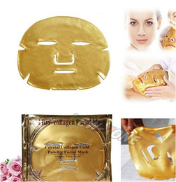 Wholesale New Arrival Lady beauty Face Mask Collagen Gel Contains Hylauronic Acid K Gold d Silk