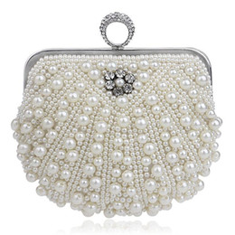 Newest Luxury Mini Bags Crystals Beads Bridal Wedding Evening Bag One Shoulder Brides Wallets Handbags Clutches Purse