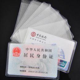 Vente En Gros 10PCS PVC Transparent Titulaire Proteger Carte Didentite De Visite Couverture