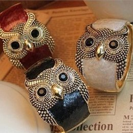 Women Owl Bracelets Alloy Statement Bangle New Retro Cuff Bracelets High Quality Jewelry for wholesale Free Shipping