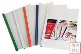 Wholesale Deli stationery pumping lever clip a4 pumping lever file folder mm Report cover spine bar shipping free min order