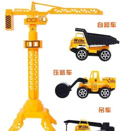 Wholesale NEW Pullback Construction Vehicles Assorted Vehicle Designs Plastic Vehicles yellow set for the kids gifts