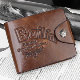 2017 portefeuille de cartes de poche PU Leather Wallet Spring Haute qualité Brand New Mens Portefeuilles en cuir Porte-cartes Embrayage Center Bifold Purse for Men / Women bon marché portefeuille de cartes de poche