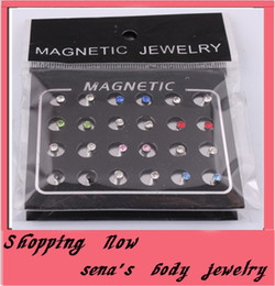 fake earring stud mix color 24pcs lot 3mm magnetic circle crystal ear stud magnetic earrings