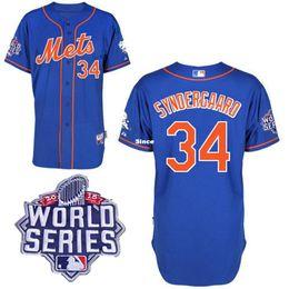 Wholesale 30 Teams w World Series Patch New York Mets Jerseys Noah Syndergaard Jersey Men s Mets Noah Syndergaard Jerseys