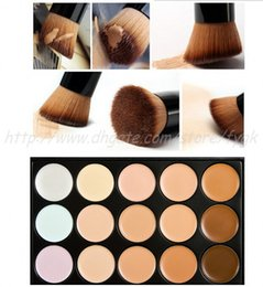 Professional 15 Colors Concealer Palette Make Up Cream Primer Camouflage Contour Palette Makeup With Puff Brush