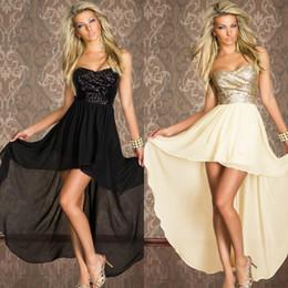 Las mujeres atractivas de oro en Línea-Vestidos Sexy Runway Para Mujeres Strapless Boulevard Sequined Vestido largo Negro Oro Maxi Vestidos Clubwear CB9504