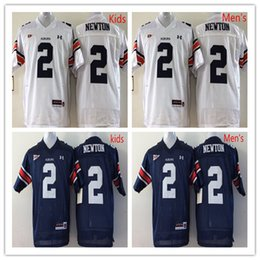 Wholesale Factory Outlet Cam Newton Auburn Tigers Jersey Navy Blue White Stitched Top Quality College Football Jerseys S XXXL