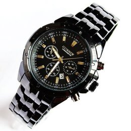 Wholesale Hot burst models world men s fashion brand black quartz watch Curren upscale fashion casual sports watch steel watches date