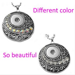 Wholesale-G00105 newest round snap button jewelry pendant for 18mm button