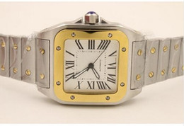 New Luxury Automatic Movement Two Tone 100 XL Stainless Steel Bracelet Mechanical Automatic Fashion Men's Watch