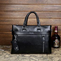 Wholesale-2015 new HOT SELL men handbag men's Genuine Leather laptop bags big computer Fashion Men Messenger Bag Briefcases Crossbody