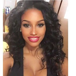 Lace Front Malaysian Curly Virgin Human Hair Wigs for Black Women Human Hair Medium Cap Natural Color Bellahair dhl free shipping