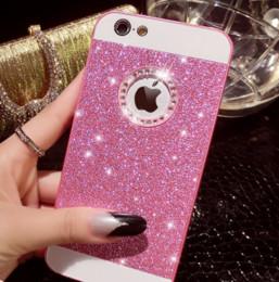 brilla la caja del metal de lujo del teléfono de Bling del Rhinestone cristalino para el iphone 5s iPhone SE 5 6 6plus i6s GooPhone i6pluse plata negro de oro rosa desde iphone bling la rosa proveedores