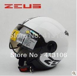 210C blanco Casco-ZEUS al por mayor de MOMO de la motocicleta, envío libre, almohadillas de verificación extraíble y lavable, visera extraíble, aprobado ECE desde visera extraíble casco proveedores
