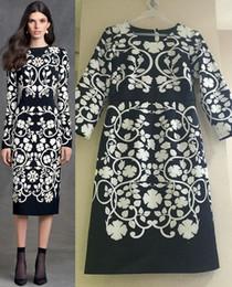 Fashion Print Women Maxi Dress Elegant Round Neck Dresses 15100825