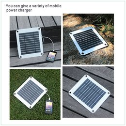 Wholesale 5W mono USB charger port semi flexible solar panel with regulator built in for mobiles