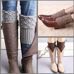 Wholesale Crochet Boot Cuff New Hot Knitted Boot Cuff fashion Lady Crochet Boot Cuff Fashion Warm knitted leg warmers LJJD3443 pairs