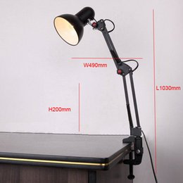 discount best office lamps best promotion led table lamp iron morden american foldable long arm best office lamps