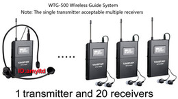 Wholesale Wtg Wireless Acoustic Transmission System Tour Guiding Simultaneous Translation Audio visual Eduation transmitter and receivers