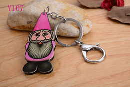 2016 Santa Claus Silicon Key Caps Covers Keys Keychain Case Shell Novelty Item Key Accessories Car Keychain Ring Y107