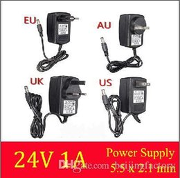 Wholesale Good AC Converter Adapter for DC V A Power Supply Charger for LED Strip Light CCTV US UK EU AU plug for ADSL Cats mm mm A3