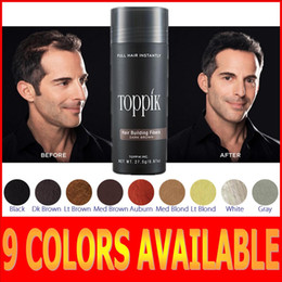 Wholesale Toppik Colors Hot Sale Salon Hair Loss Product Men Women Hair Fibers Thin hair treatment g