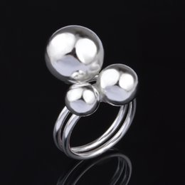 Top Sale Exquisite Platinum 925 Sliver Ring Plated Heart Lovers Ring Free Shipping With Tracking Number 1074