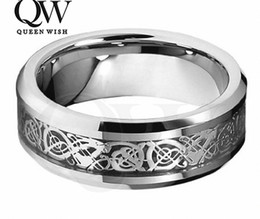 Statement Couple Rings Jewelry Celtic Engagement Ring Wedding Bands Mens Jewelry Tungsten Ring Couples Wedding Band Silver Fashion Jewelry