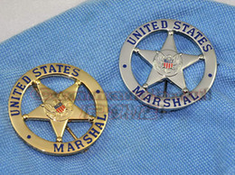 Wholesale 2016 New Arrival Militaire Medailles American Metal Badge Souvenirs United States Marshal Us Marshals Badge Bronze