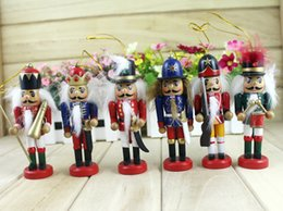 Wholesale Deal New New year christmas ornaments Hand painted wooden nutcracker ornaments CM honor guard tour system crafts Decoration