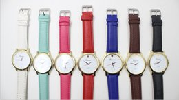 New Arrival Vintage Geneve Leather Watches Strap Wrist Watches Fashion Analog Quartz Movement For Women Free Shipping