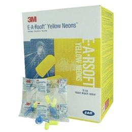 Wholesale Original M EAR Soft Foam Sponge Yellow Neons Professionals Noise Reduction Earplug Ear plug with Rope NRR dB SNR dB DHL Free