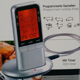 Wholesale Remote Wireless Digital Food Meat Probe Thermometer with Timer for Kitchen Oven Smoker Cooking BBQ Grill Water Milk
