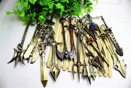 2015 new Mix Order LOL Champions Weapon Sword League of Legends Zinc Alloy Keychains Exquisite Anime Accessories Key Ring Chain 12cm