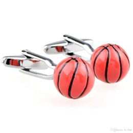 Wholesale FC fine jewelryWets fashion clothing for men and women of the new French style of basketball fun cufflinks Cufflinks CZA2221