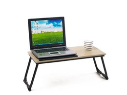 Wholesale New Laptop table Notebook Desk Natural Bamboo Foldable Folding Bed Table stock in UK USA