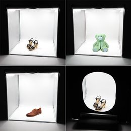 Wholesale 2PCS LED Professional Portable Softbox Box cm LED Photo Photography Studio Video Lighting Tent with LED Light D1722