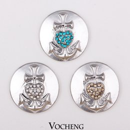 Wholesale Vocheng Noosa Jewelry Accessory An Arrow Through a Heart Chunk Snap Button Vn