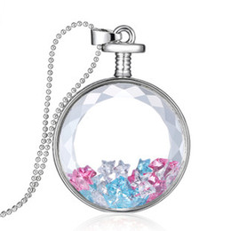 Wholesale Essential Oil Diffuser Necklace Floating Lockets Necklace Floating Lockets Charms With Star Glass Pendant Jewelry YH N