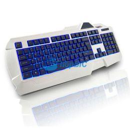 Wholesale-USB Wired LED Backlit Illuminated Gaming Game Keyboard for PC Laptop #68516