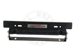 Wholesale GRT MUGEN Style Adjustable Carbon Fiber Look Bumber Plate Aluminium License plate frame M20105 frame for solar panel