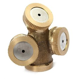 Wholesale 3 Heads Brass Agricultural Mist Spray Nozzle Sprinkler Garden Watering Roof Cooling Lawn Irrigation System
