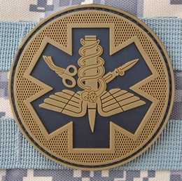 Wholesale 2015 PVC armband cm velcro patch military morale patches armband Velcro badges battlefield medical medical luminous at night