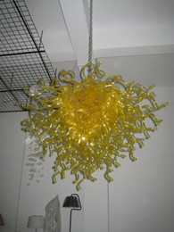 100% Mouth Blown CE UL Borosilicate Murano Glass Dale Chihuly Art Yellow Glass Pendant Light Fitting