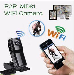 Wholesale 2016 Smallest WiFi Hidden camera MD81S Mini DV Wireless IP Camera Video wifi hd pocket size Remote by Phone mini camera Freeshipping